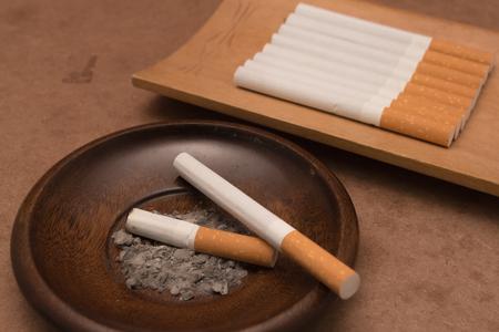 cancerous: Cigarette Stock Photo