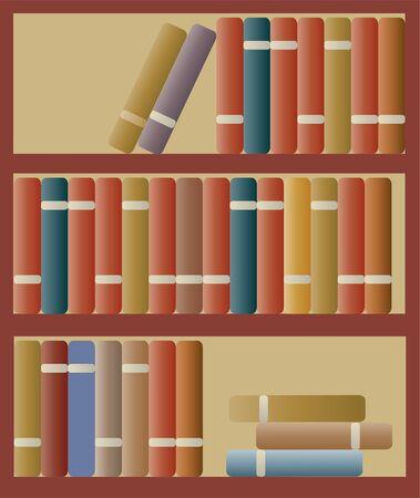 multiple house: bookshelf Illustration