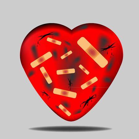 brokenheart symbol valentine 向量圖像