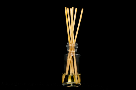 air diffuser: diffuser reeds on black background