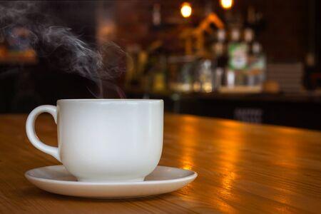 taza de cafe en la cafe