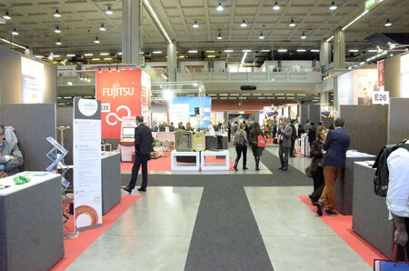 protagonists: Milan (Italy) - 27 october 2014: With the inaugural conference Entitled \ EXPO 2015 and Italy innovation: companies at the center, the territories Protagonists \ kicks off the 51st edition of Smau: the center of the debate \ appointment with Expo