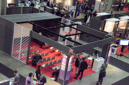 Milan (Italy) - 27 october 2014: With the inaugural conference Entitled \ EXPO 2015 and Italy innovation: companies at the center, the territories Protagonists \ kicks off the 51st edition of Smau: the center of the debate \ appointment with Expo