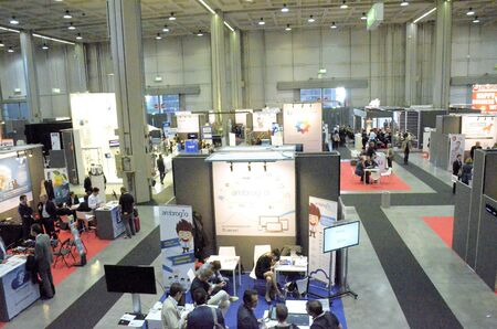protagonists: Milan Italy - 27 october 2014: With the inaugural conference Entitled EXPO 2015 and Italy innovation: companies at the center, the territories Protagonists kicks off the 51st edition of Smau: the center of the debate Editorial