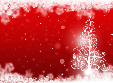 plain postcards: Christmas tree background. Winter card Stock Photo