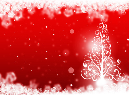 winter tree: Christmas tree background. Winter card Stock Photo