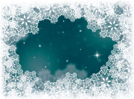 rime: Snow winter background. Christmas card. Winter card