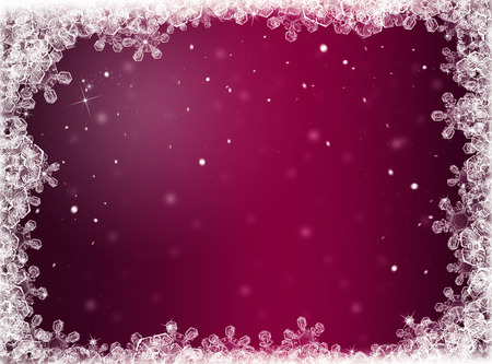 snowflakes: purple  ice winter background. Winter card
