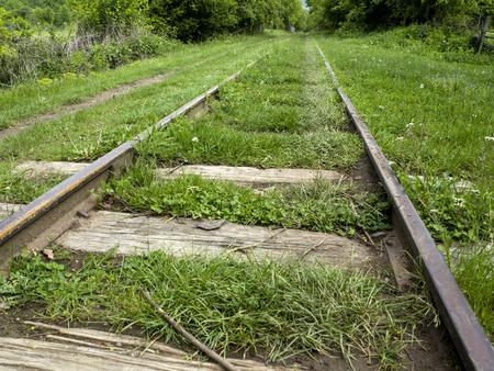 railway tracks: old railway tracks