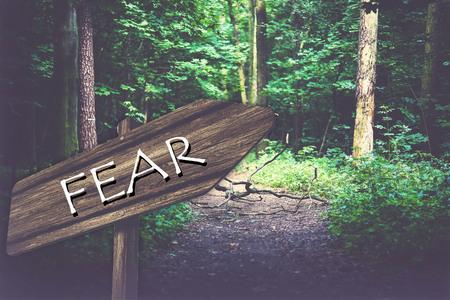 fear: fear sign Stock Photo