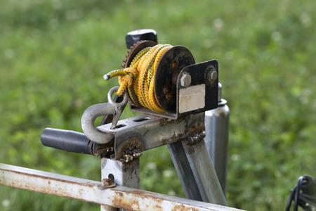 poleas: cuerda llave de la polea