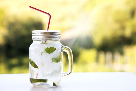 Mojito summer jar cocktail