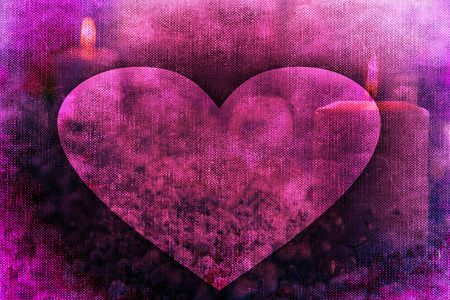 Romantic valentine candle background