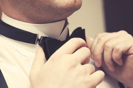 corrects: Groom getting ready