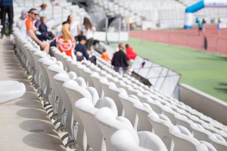 sports venue seating for spectators Reklamní fotografie
