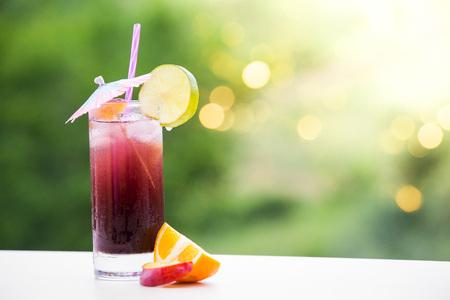 Sangria summer cocktail drink