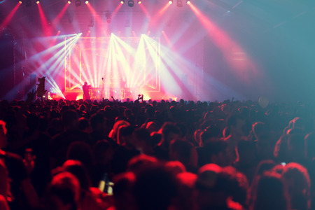 Concert crowd background Stock Photo