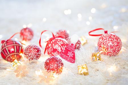 Christmas hat decoration on white background
