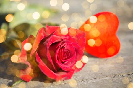 Red rose St. Valentine's background