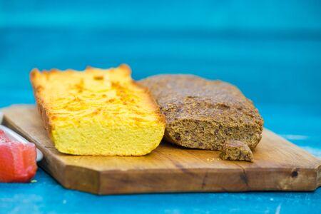 Keto diet almond flour and coconut flour low-carb bread