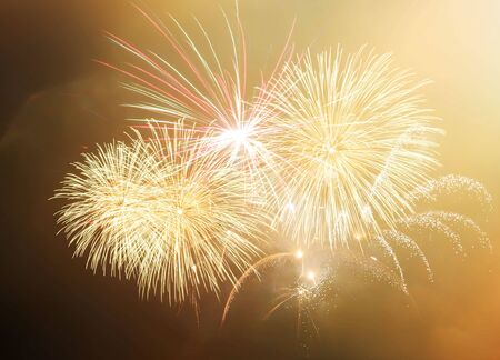 New Year abstract fireworks background