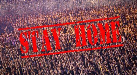Cancelled due to coronavirus concert crowd 免版税图像 - 144848541