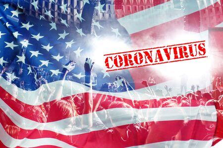 4th july celebration during coronavirus lockdown Banque d'images