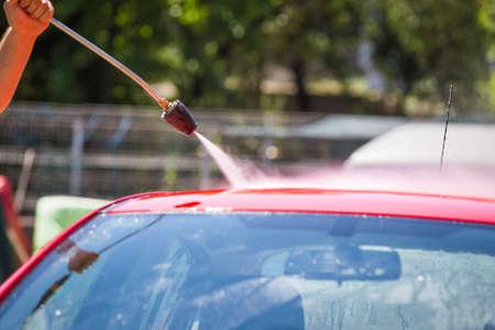 Car washing self service system