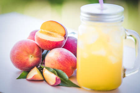 Peach summer drink
