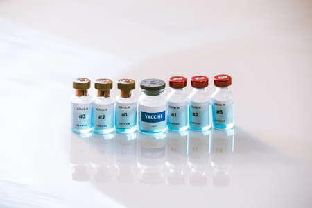 Sars cov 2 different vaccine bottles