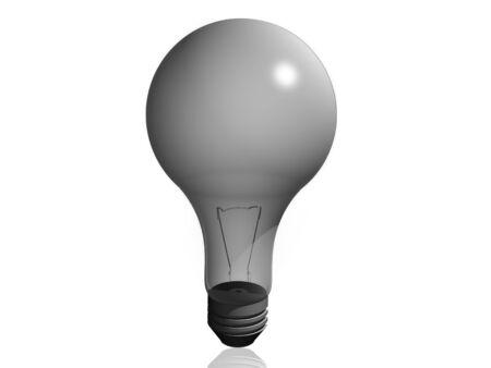 Semi-translucent light bulb.