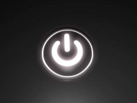 logon: Power button with glowing backlight.