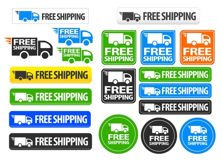 Free Shipping icons and buttons pack