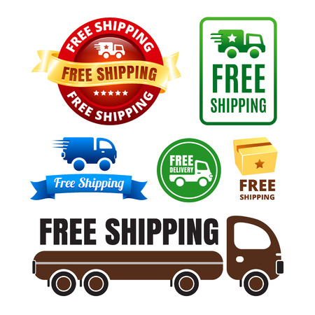 Free Shipping Badges And Icons