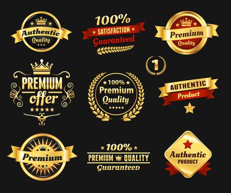 High Quality Golden Badges Illustration