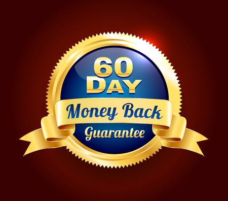 골든 60 일 보증 배지 스톡 콘텐츠 - 45509904