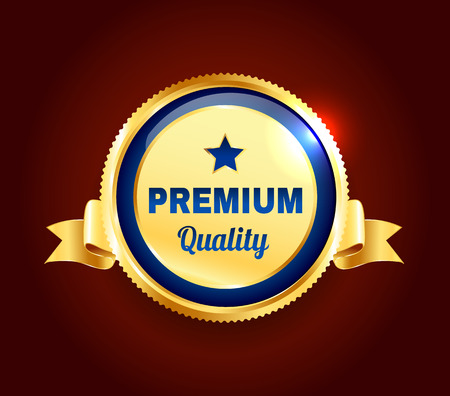 premium quality: Golden Premium Quality Badge