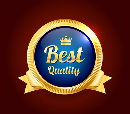 scalable: Golden Best Quality Badge