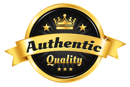 High Quality Golden Badge Vetores