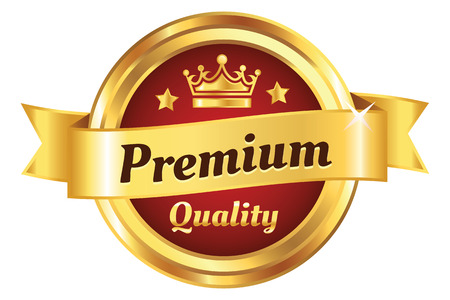 guarantee seal: High Quality Golden Premium Badge