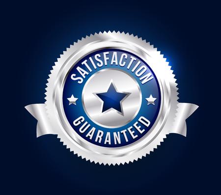 scalable: Silver Satisfaction Guaranteed Badge Illustration