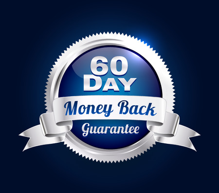 Silver 60 Day Guarantee Badge 向量圖像