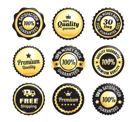 Golden Quality Guarantee Badges