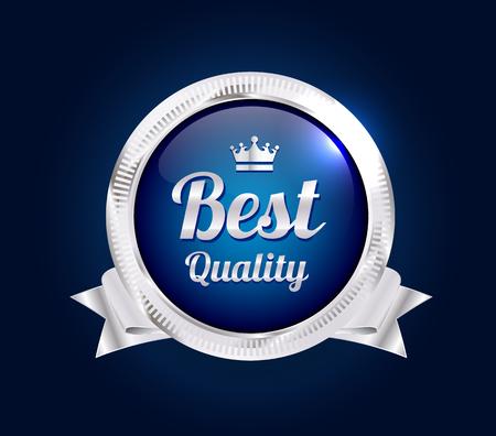 Silber beste Qualität Abzeichen Standard-Bild - 45509948
