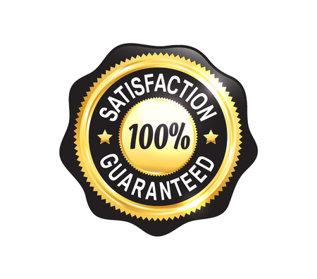 Or Satisfaction Guaranteed Badge Banque d'images - 45509949