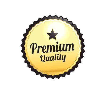 Golden Premium Quality Badge Zdjęcie Seryjne - 45509951
