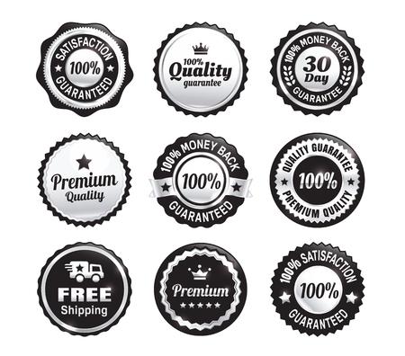 Badges Garanzia di qualità Argento Archivio Fotografico - 45509983