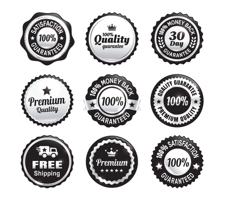 Silver Quality Guarantee Badges