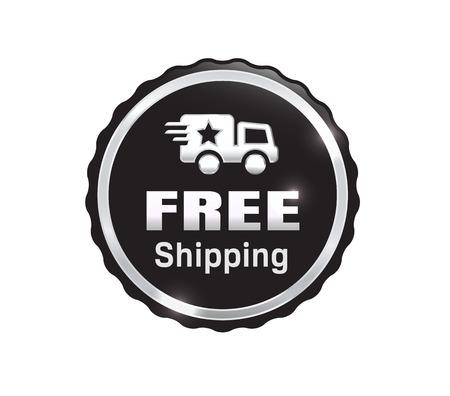 Silver Free Shipping Badge