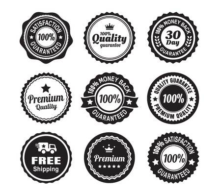 quality guarantee: Vintage Quality Guarantee Badges